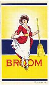 #ZLB003 - Group of 4 Vintage Lady Broom Labels