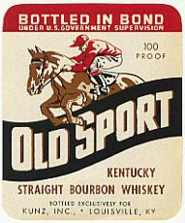 #ZLW008 - Group of 3 Old Sport Kentucky Bourbon Whiskey Labels