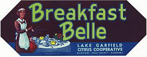 #ZLC110 - Breakfast Belle Citrus Label with Black Maid