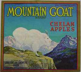 #ZLC036 - Mountain Goat Apple Crate Label