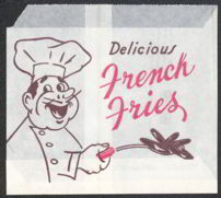 #MS151 - 1954 Drive Through Restaurant French Fry Bag