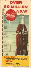 #CC031 - 1960 Coca Cola Blotter with Giant Bottle