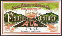 #ZLBE036 - Adam Scheidt Brewing CO. Twentieth Century Ale Label