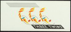 #ZLSC055 - Smaller Three Twins Cigar End Box Label