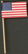 #ZZZ024 - 48 Star Paper Flag on a Wooden Stick