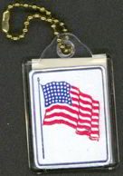 #PL208 - 48 Star American Flag Keychain