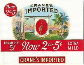 #ZLSC005 - Crane's Imported Cigar Label