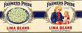 #ZLCA021 - Farmers Pride Lima Beans Can Label