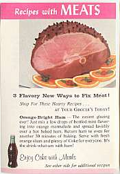 #CC040 - Group of 4 Coca Cola Recipe Sheet - Meats