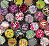 #BC057 -  Group of 89 All Different Soda Caps