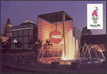 #CC202 - Postcard from the Coke Pavilion at the Atlanta 1996 Olympics