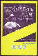 #MUSIC039  - 1999 Charlie Daniels Band OTTO Backstage Pass from the Volunteer Jam Tour with Marshall Tucker and Molly Hatchett