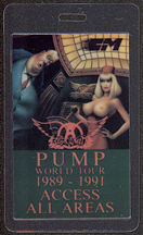 #MUSIC439 - Topless Lady 1989 Aerosmith Laminated Backstage Pass from the Pump World Tour