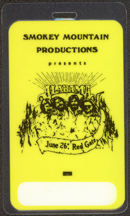 #MUSIC473 - Alabama Laminated Backstage Pass from the Red Gate Concert on June 26th, 1982