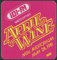 #MUSIC297  - April Wine 1981 Nature of the Beast World Tour Backstage Pass - Radio 101 FM