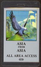 #MUSIC476 - 1983 Asia Laminated Backstage Pass from the Alpha Tour