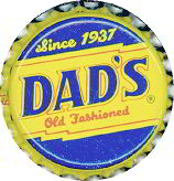 #BC039  - Group of 10 Dad's Old Fashioned Root Beer Caps
