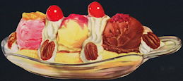 #SIGN175 - Banana Split Sign - As low as 50¢ each