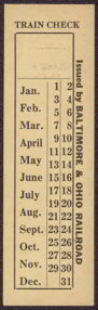 #CA065 - Old Unused Baltimore & Ohio Railroad Ticket