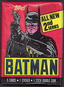 #ZZA045 - 1989 Batman Series 2 Waxed Trading Card Pack