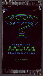 #ZZA162 - Full Pack of Fleer Batman Forever Trading Cards