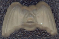 #BEADS0551 - 10mm Mirror Reverse  Glass Bat Cabochon - Halloween Spooky - As low as 15¢