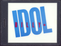 #MUSIC497 - Rare 1983 Billy Idol Laminated Backstage Pass from the Rebel Yell Tour
