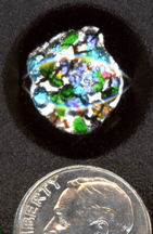 #BEADS0408 - Large Artistic Cabachon with Multi-Color Foil Center