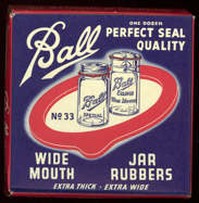 #CS305 - Full Box of Ball Wide Mouth Rubbers for Ball Eclipse and Ball Special Jars - Red, White, Blue Version
