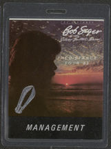 #MUSIC484 - 1983 Bob Seger and the Silver Bullet Band Laminated Backstage Pass from The Distance Tour