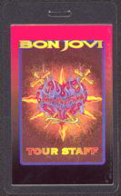 #MUSIC272  - 1993 Bon Jovi Laminated Backstage Pass from the Keep the Faith Tour