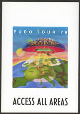 #MUSIC383  - Rare Paper Peel Off 1979 Boston Access All Areas Backstage Pass from the Euro Tour