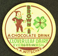 #DC107 - Very Early Milk Bottle Cap Picturing a Palmer Cox Brownie
