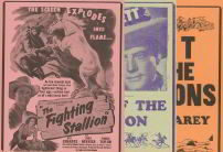#CH096  - 1940s Western Cowboy Movie Posters Broadsides