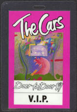 #MUSIC412  - The Cars 1987 Door to Door Tour Laminated Backstage Pass - Pink V.I.P. Version