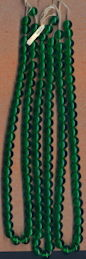 #BEADS0753 - Group of 144 10mm Transparent Emerald Green Glass Cherry Brand Beads