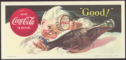 #CC215 - 1953 Coca Cola Blotter with Sprite Boy