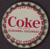 #BC005 - Coca Cola Twist Off Bottle Cap