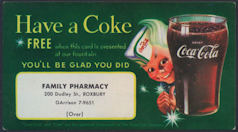 #CC317 - Coca Cola Coupon from Pharmacy Picturing Sprite Boy