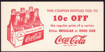 #CC285 - Coca Cola 10¢ OFF Regular or King Size Coupon