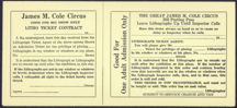 #CIR006 - James M. Cole Circus Contract for Residential Sign Placement