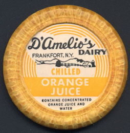 #DC175 - Large D'Amelio's Chilled Orange Juice Bottle Cap with Dairy Pictured