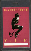 #MUSIC459  - 1991 David Lee Roth (Van Halen) Laminated Backstage Pass from the A Little Ain't Enough Tour