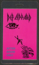#MUSIC426  - 1985 Def Leppard Laminated Backstage Groupie Pass from the Pyromania Tour