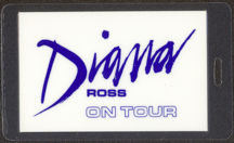 "#MUSIC477 - 1983 Diana Ross Laminated Backstage Pass from the ""1983 Diana Ross Tour"""
