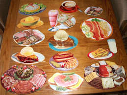 #SIGN163 - Group of 14 Different Paper Diecut Diner/Deli Food Signs