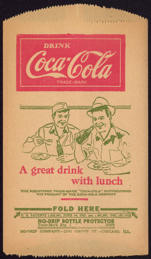#CC286 - Coca Cola Dry Server with Truckers Drinking a Coke