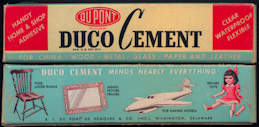 #CS348 - Full Box of Duco Cement with Nice Illustrations
