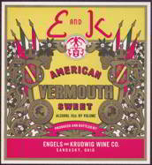 #ZLW114 - E and K American Sweet Vermouth Bottle Label