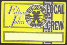 #MUSIC721 - Horizontal Elton John OTTO Cloth Backstage Pass from the 1997 The Big Picture Tour